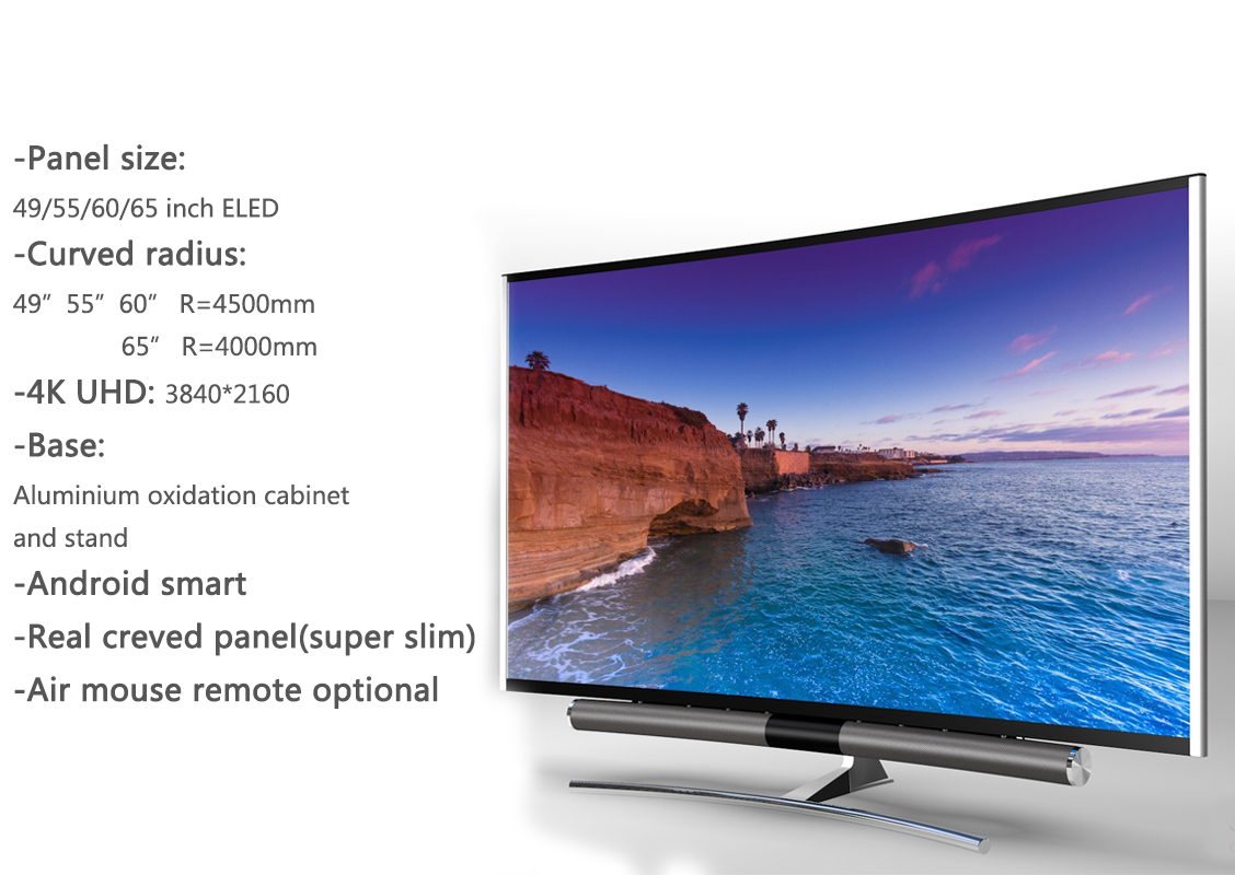 UHD 4K curved TV