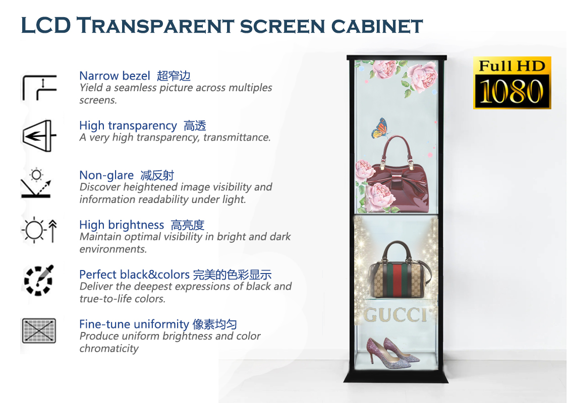 LCD transparent screen