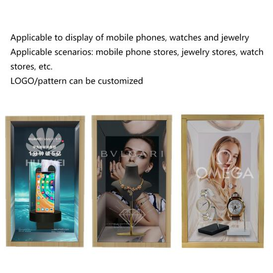 AR Transparent Screen Show Case Pattern Logo Customized For Watch Jewellery Cellphone